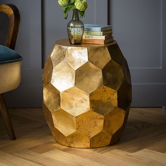 All golden modern side table