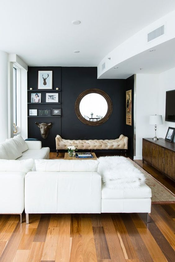 Living room with modern paint color